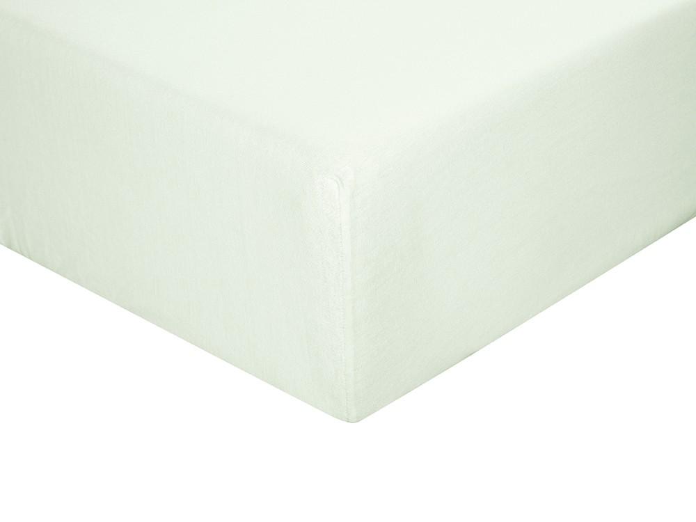 Sábana bajera para cama individual o doble color agua