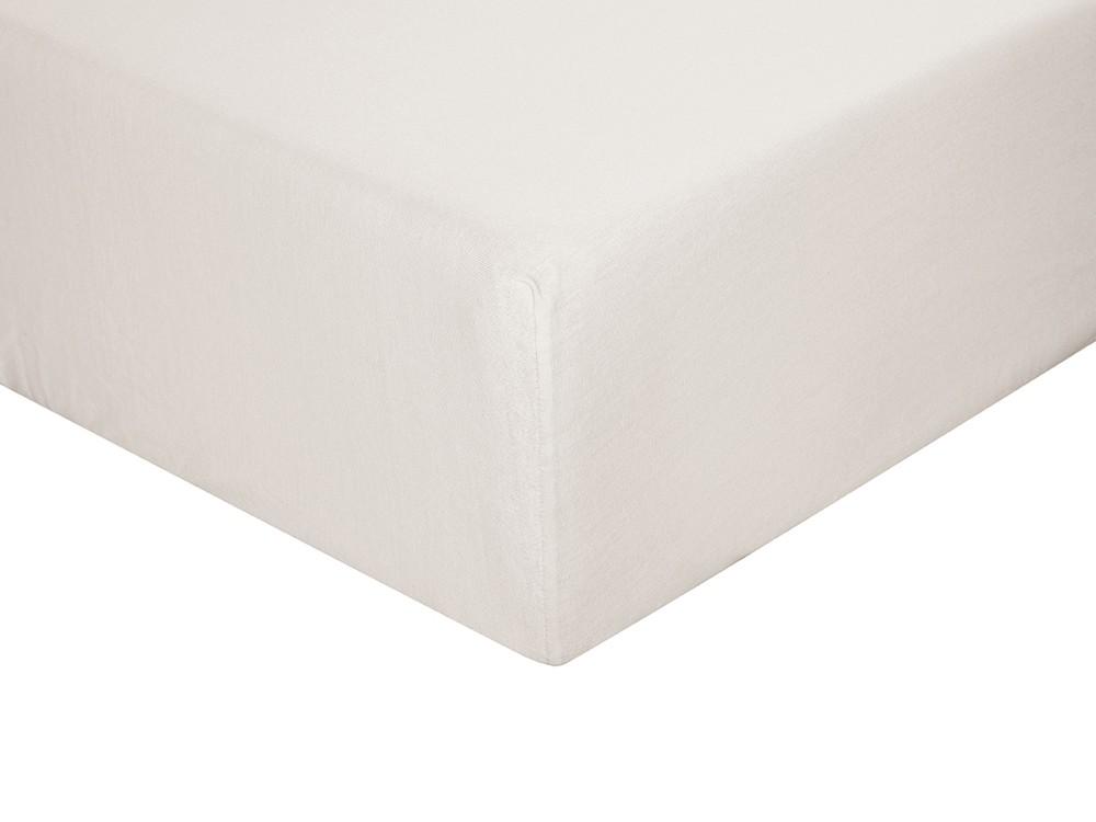 Sábana bajera para cama individual o doble color lino