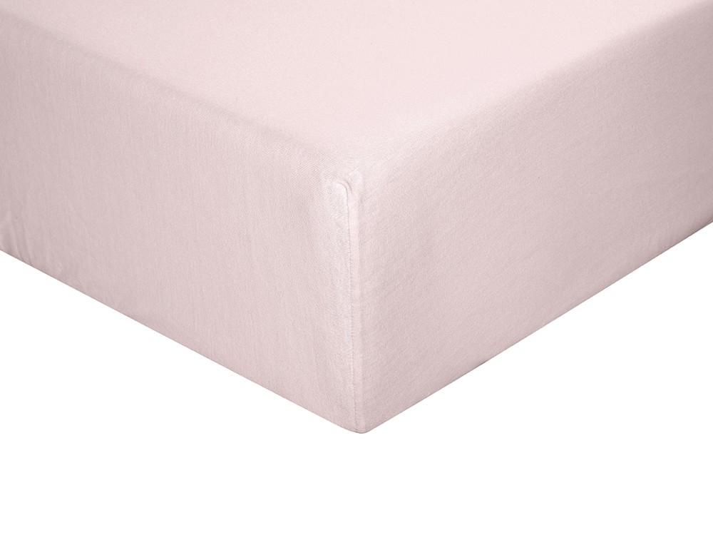 Sábana bajera para cama individual o doble color malva
