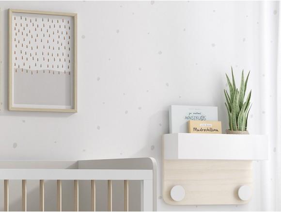 Rollo de papel pintado Dots mini onix