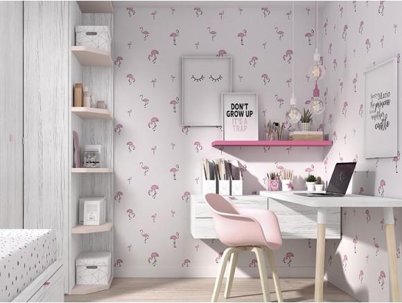 Papel pintado flamingo mood