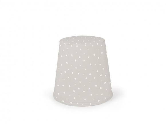 puff cónico relleno de espuma con exterior de algodón dots blanco