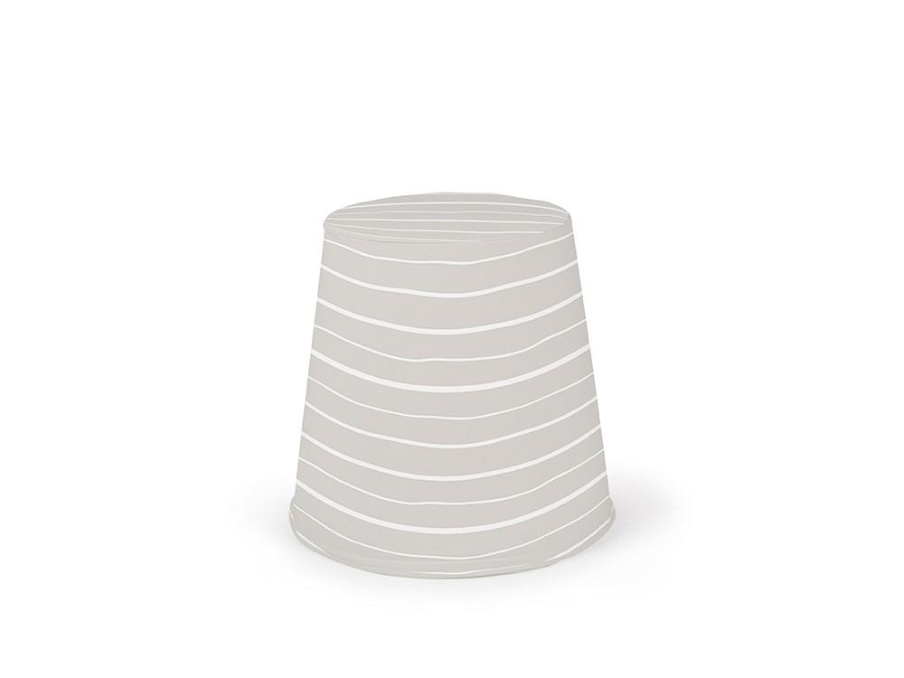 puff cónico de espuma con tapizado en tejido panamá lines caliza
