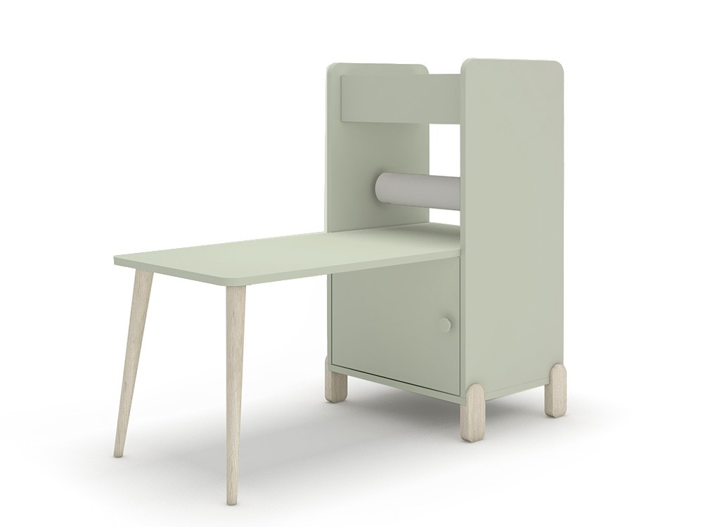 Estantería con escritorio y porta-rollo de papel continuo mini mood ros agua