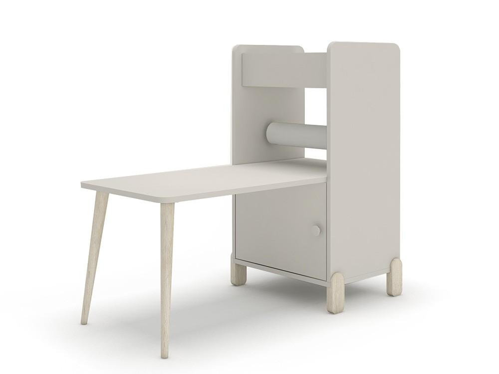 Estantería con escritorio y porta-rollo de papel continuo mini mood ros tierra