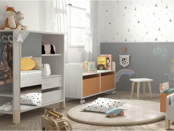 Armario de inspiración Montessori Arco Iris con espejo mini mood de ros