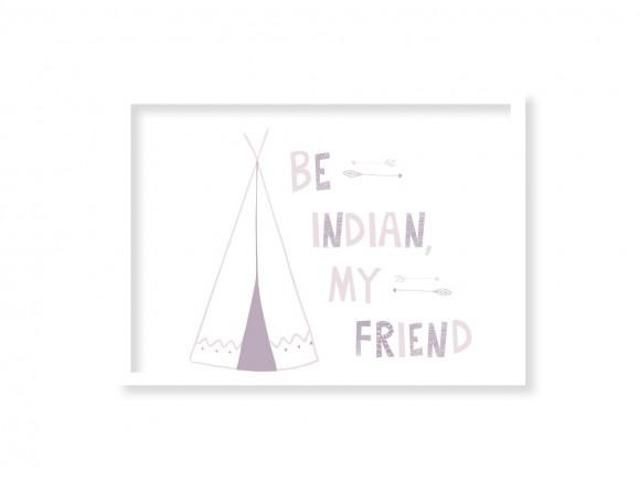 Cuadro enmarcado Be indian ónix