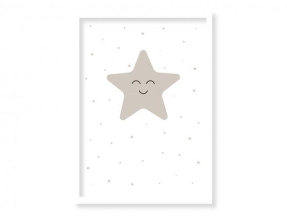 cuadro enmarcado star en muchos colores a escoger de mini mood
