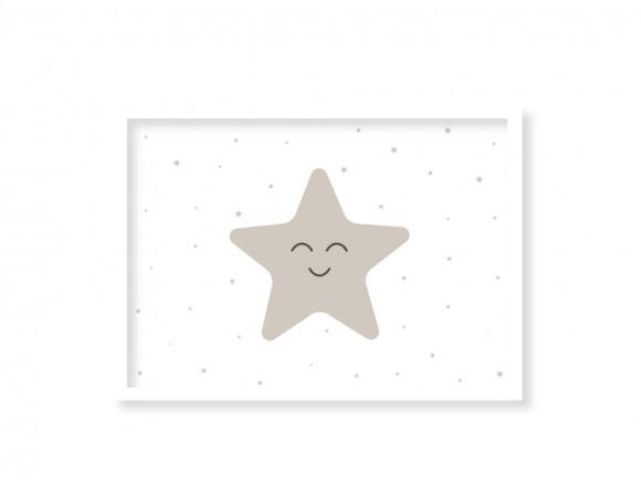 cuadro enmarcado estrella disponible en muchos colores de mini mood
