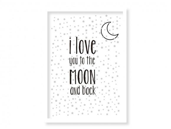 cuadro enmarcado moon elige marco y medida