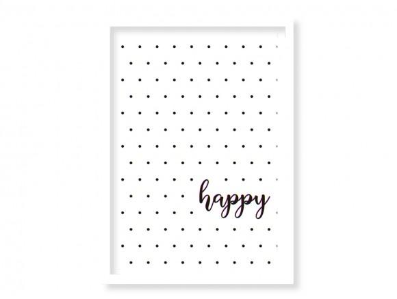 cuadro enmarcado Happy elige marco
