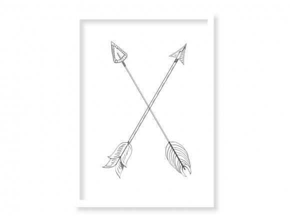 Cuadro enmarcado en dos medidas con marco a escoger Flechas