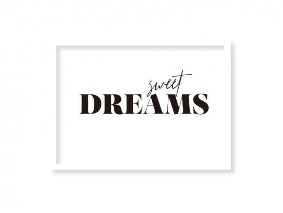 Cuadro enmarcado Sweet Dreams en dos medidas con marcos a escoger