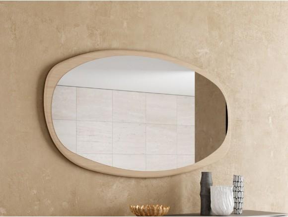 Espejo Lush en madera chapada o lacada de formas orgánicas de Mobenia Atelier