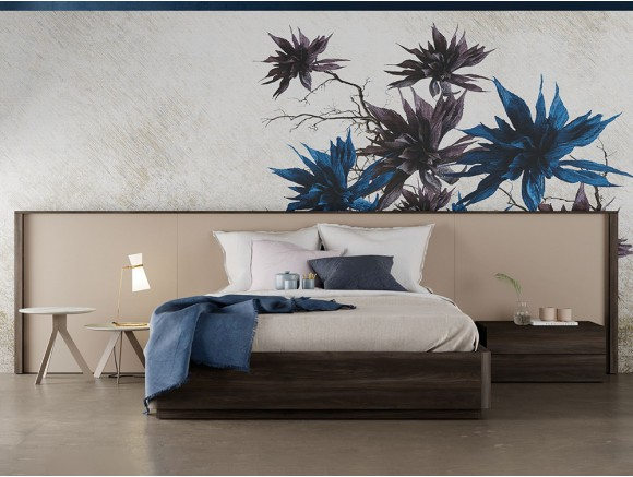 LAGRAMA Dormitorio moderno con cabecero modelo Homage opción con cojines