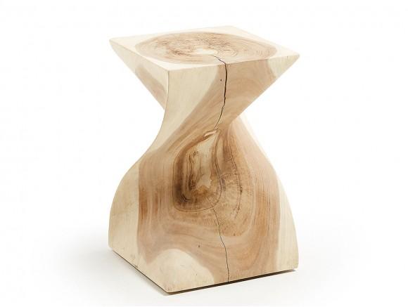 Mesa auxiliar de madera de...