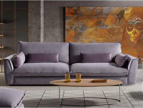 Sofá tapizado en textil Mauro