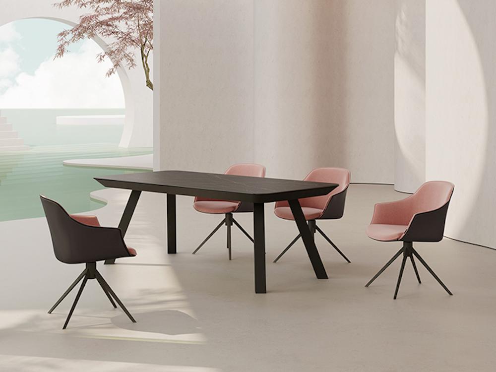 Mesa de comedor extensible rectangular Esla