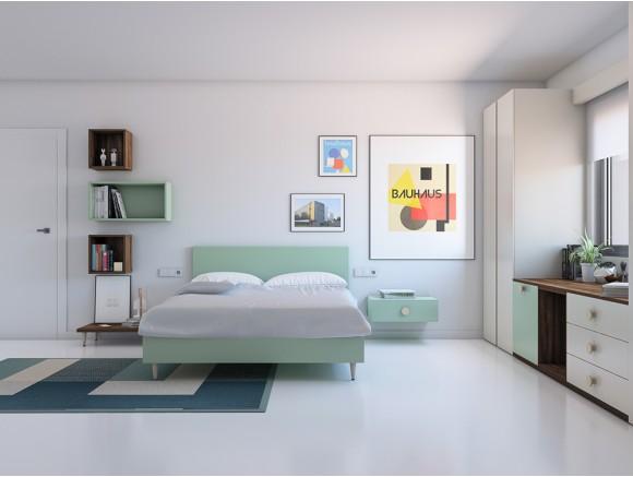 Dormitorio juvenil con cama...