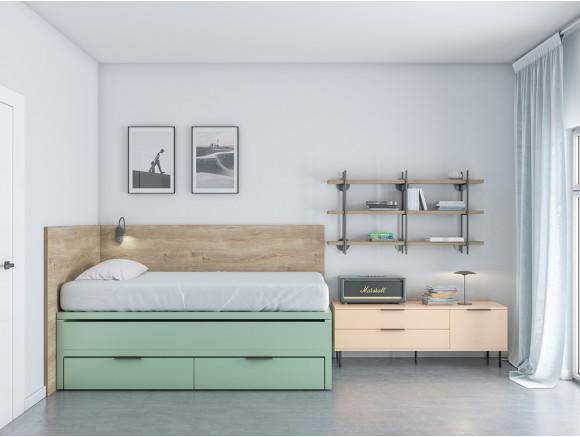 Dormitorio juvenil cama...