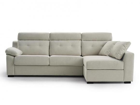 Sofá cama con chaiselong...