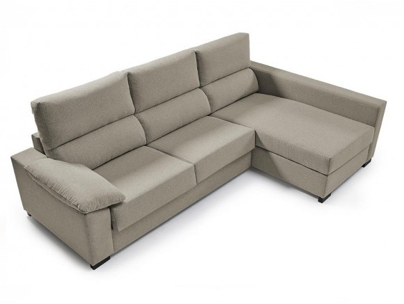 Sofá cama con chaiselongue...