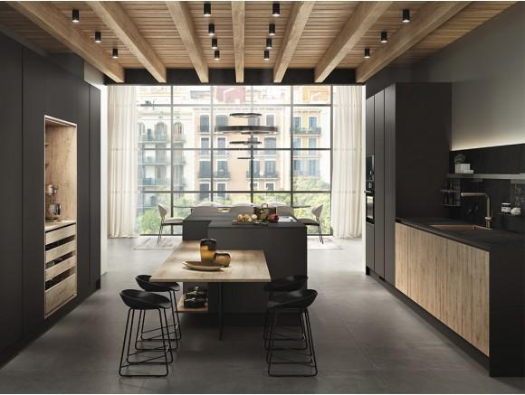 Cocina de diseño Nero & Oak
