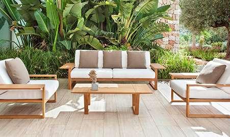 Sofá y sillón de exterior